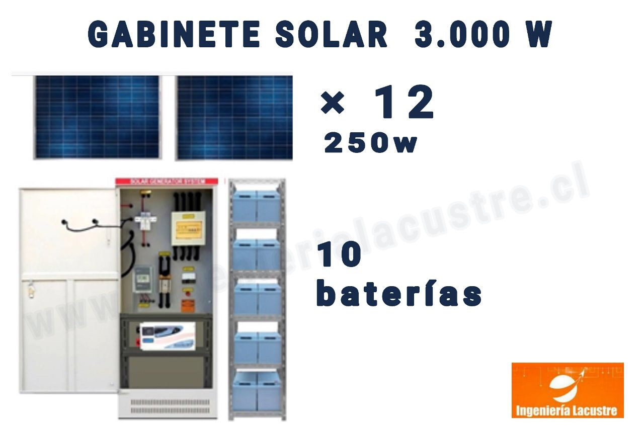 kit solar 3000 watts ingenieria lacustre